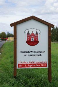 Ortseingangstafeln Lommatzsch 16.08.2011
